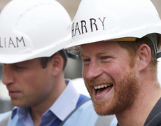 Why are Prince Harry and William Wearing Hard Hats?