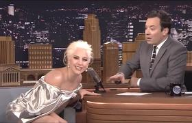 Lady Gaga on Tonight Show talks about #AmericanHorrorStory