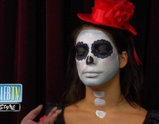DIY Halloween Sugar Skull Makeup