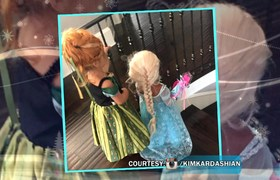 See North West & Penelope As Frozen Princesses
