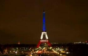 Se ilumina la Torre Eiffel con los colores de Francia