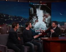 Jimmy Kimmel Live - Chris Evans & Robert Downey Jr. Reveal the Poster & Trailer for