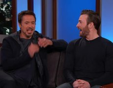 Jimmy Kimmel Live - Chris Evans and Robert Downey Jr. Filmed in Hotlanta