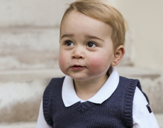 Prince George Trims Holiday Tree!