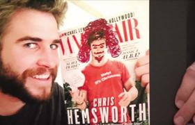 The Tonight Show - Chris & Liam Hemsworth Doodle on Each Other's Magazine Covers