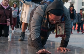 Inician su peregrinaje a la Basílica de Guadalupe