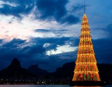 Brazil has the world's largest floating Christmas tree