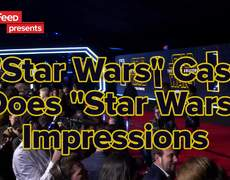 "Star Wars: The Force Awakens Cast Members Do ""Star Wars"" Impersonations"