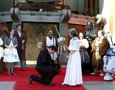 A Star Wars-style wedding