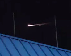 Strange luminous object in the skies over Nevada