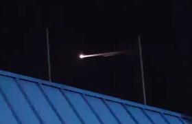 Strange luminous object in the skies over Nevada