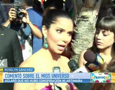 Clarify that there was any kind of conspiracy Miss Universe
