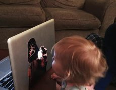 Little Girl believes her father is Darth Vader