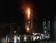 #BreakingNews - Se incendia hotel en Dubai durante la Vispera de Año Nuevo