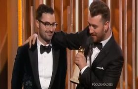 2016 Golden Globe Awards - Sam Smith wins