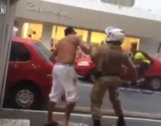 #Controversy - Hard lesson man who disrespected a cop in Brazil