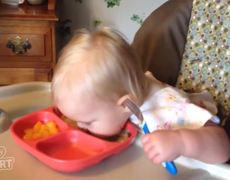 #Adorable - Baby Eats Like A Piggy