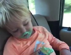 #Cute - Boy Falls Asleep while Eating Ice Cream