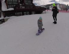 #Adorable Toddler Is A Boss On The Snow Slopes