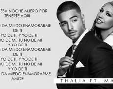 Thalía ft. Maluma - Desde Esa Noche (Video con Letra)