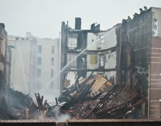 Mexican families affected by the explosion and collapse building in Manhattan