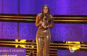 Paulina Vega Miss Universo 2014 Presentando - Premios Lo Nuestro 2016