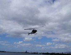#VIRAL - Choque de helicóptero en Pearl Harbor (Cámara Lenta)