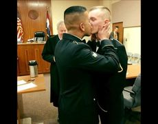 Kiss of two gay soldiers becomes popular