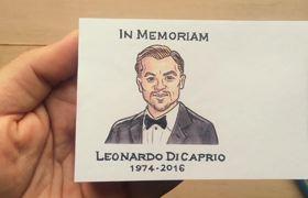 Flipbook Animation - Leonardo DiCaprio 2016 Oscar Winning