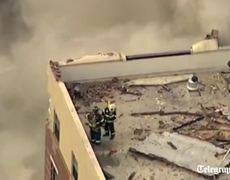 New York building collapse Large explosion