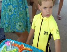 Cute Little Guy Interrupts Happy Birthday Song Because Not Everyone is Singing