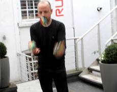 Amazing man solving 3 Rubik's Cubes in under 20 seconds