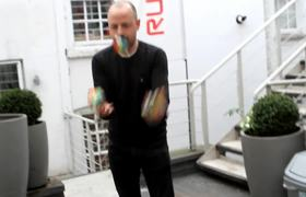 Amazing man solving 3 Rubik's Cubes in under 20 seconds
