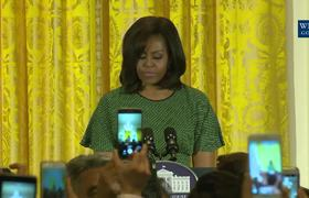 First Lady Michelle Obama Hosts an Event to Mark Nowurz