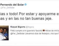 Fernando del Solar celebra su cumpleaños con Raquel Bigorra