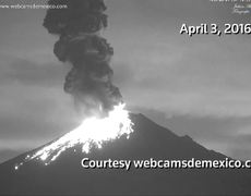 Powerful eruption of Mexican Volcano