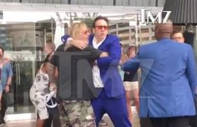 Nicolas Cage And Vince Neil Fight In Las Vegas
