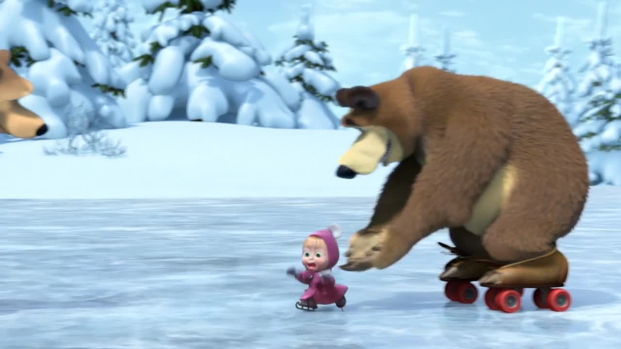 Bear Osos Videos Porno masha and the bear - party in skates (episode 10)