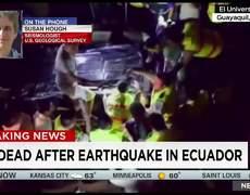 Sismo de 7.8 grados sacude Ecuador; hay decenas de muertos