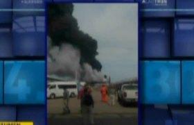 #VIDEO - Explosión en planta de Pemex en Veracruz