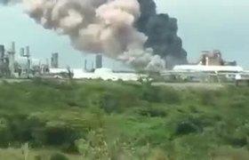 Imágenes de la Explosión de la Planta de PEMEX en Veracruz
