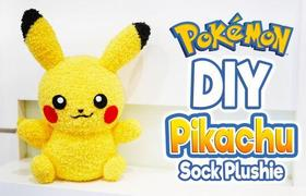 #DIY - How to make your Pikachu doll with a pair of socks?