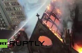 Incendio se ha declarado en una iglesia ortodoxa serbia