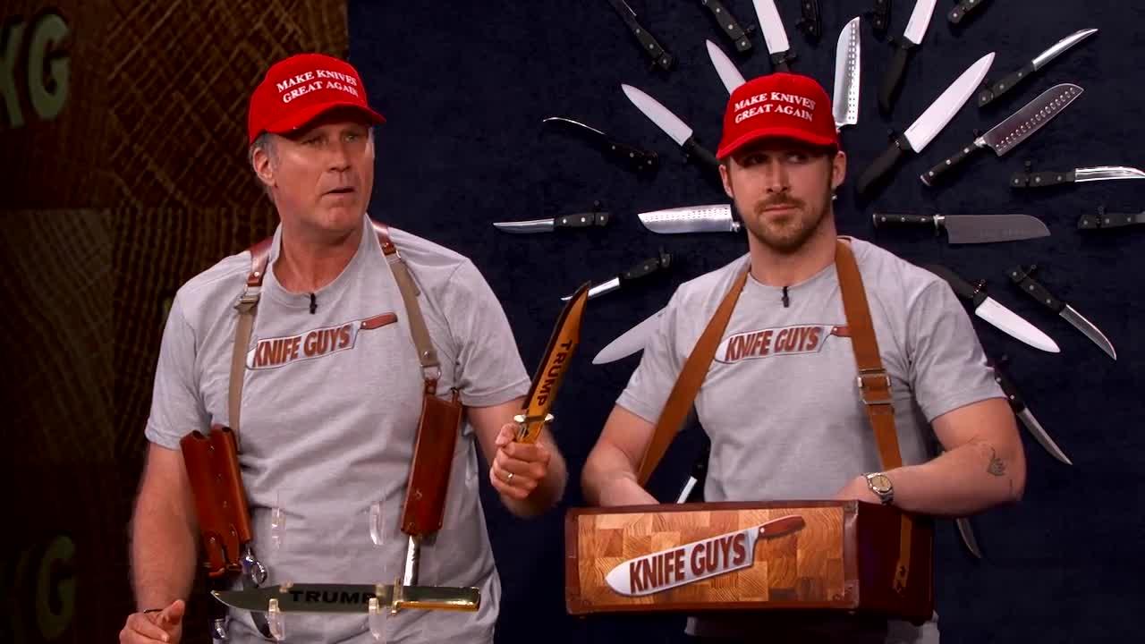 6976f5a9a29d Jimmy Kimmel Live: The Knife Guys Return! (featuring Will Ferrell & Ryan  Gosling) - Videos - Metatube
