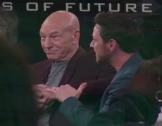 Patrick Stewart watches James McAvoy shave his head for X-Men