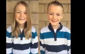 Niño dona su cabello para personas con cáncer