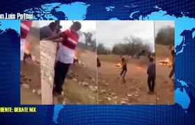 Detienen a 6 jovenes por prender fuego a un perro en SLP