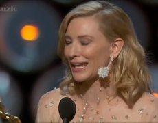 2014 Oscars Awards Cate Blanchett Wins Best Actress Acceptance Speech