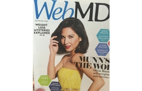 Olivia Munn bad Photoshop starring in the magazine WebMD