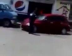 Video del momento en que atropellan a policia en Hidalgo